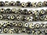 Tibetan Agate Faceted Round Gemstone Beads 10mm (GS2694)