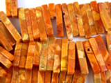 Rust Sponge Coral Graduated Stick Beads 11-45mm (CO513)
