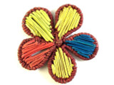 Woven Multi-Color Flower Pendant 51mm (WVP15)