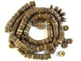 Dark Brown Coconut Wood Beads 8mm - Indonesia (WD848)