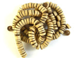 Light Brown Disc Wood Beads 8mm - Indonesia (WD849)