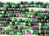 Ruby Zoisite Faceted Round Gemstone Beads 2-3mm (GS2958)