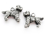 Dog - Terrier - Pewter Charm (PW1102)