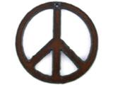 Peace Sign - Rustic Iron Pendant (IR148)