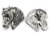 Horse Head - Pewter Pendant (PW665)