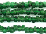 Green Tulip Recycled Glass Beads 7mm - Africa (RG553)