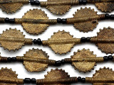 Brass Tabular Baule Beads 38mm (ME5657)