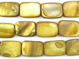 Golden Rectangular Shell Beads 19mm (SH472)