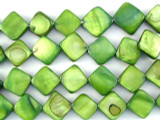Green Diamond Tabular Shell Beads 12mm (SH480)