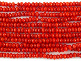 Red Bamboo Coral Rondelle Beads 2mm (CO520)