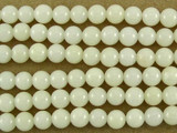 White Bamboo Coral Round Beads 3mm (CO523)