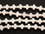 Natural Howlite Cross Gemstone Beads 9mm (GS3029)
