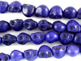 Purple Magnesite Skull Gemstone Beads 9mm (GS3032)