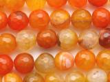 Orange Faceted Round Agate Gemstone Beads 10mm (GS3050)