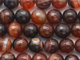 Carnelian Faceted Round Gemstone Beads 10mm (GS3053)