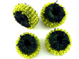 Yellow Beaded Felt Donut - Afghanistan 23mm (AF1383)