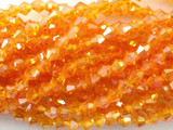 Orange Crystal Glass Bicone Beads 4mm (CRY24)