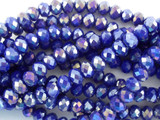 Blue & Purple Crystal Glass Beads 6mm (CRY81)