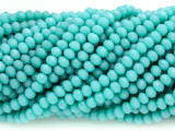 Pale Turquoise Blue Crystal Glass Beads 4mm (CRY83)