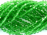 Green Bicone Crystal Glass Beads 4mm (CRY35)