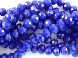 Cobalt Blue Crystal Glass Beads 8mm (CRY90)