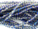 Clear & Lavender Crystal Glass Beads 4mm (CRY48)