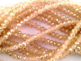 Light Peach Crystal Glass Beads 4mm (CRY58)