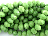 Green Crystal Glass Beads 10mm (CRY111)