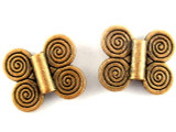 Copper Pewter Bead - Spirals 17mm (PB388)