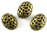 Brass Pewter Bead - Cutout Oval 18mm (PB394)