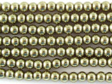 Bronze Glass Pearl Beads 3mm (PG13)