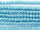 Aquamarine Glass Pearl Beads 3mm (PG16)