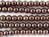 Brown Glass Pearl Beads 4mm (PG23)