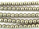 Bronze Glass Pearl Beads 4mm (PG26)