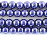 Blue Glass Pearl Beads 6mm (PG31)