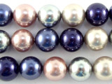 Multi-Color Glass Pearl Beads 10mm (PG58)