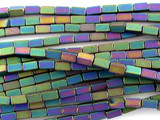 Jeweltone Hematite Square Tube Gemstone Beads 2mm (GS3065)