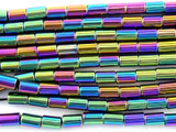 Jeweltone Hematite Tube Gemstone Beads 6mm (GS3079)