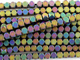 Jeweltone Hematite Faceted Square Gemstone Beads 4mm (GS3083)