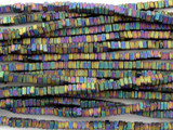 Jeweltone Hematite Square Heishi Gemstone Beads 2mm (GS3085)