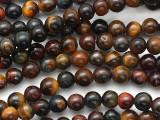 Mixed Tiger Eye Round Gemstone Beads 6mm (GS3096)