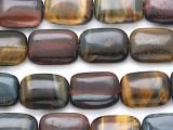 Mixed Tiger Eye Rectangular Gemstone Beads 18mm (GS3098)