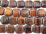 Red Tiger Eye Square Gemstone Beads 15mm (GS3101)