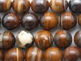 Iron Zebra Jasper Round Gemstone Beads 16mm (GS3110)