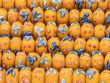 Mustard Yellow Rondelle Lampwork Glass Beads 12mm (LW1462)