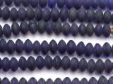 Dark Blue Saucer Glass Beads - Nepal 12mm (NP233)