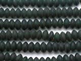 Dark Green Saucer Glass Beads - Nepal 12mm (NP235)