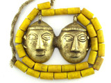 Double Headhunter Pendant Necklace - Nagaland (NP409)