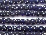 Blue & White Glass Beads - Nepal 12mm (NP265)