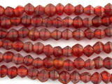 Red Bicone Glass Beads - Nepal 6mm (NP474)